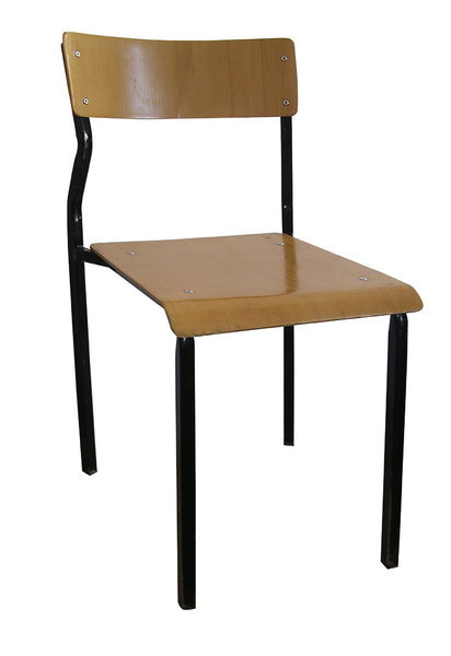 School chair: A chair for pupils and students. Isoalted.