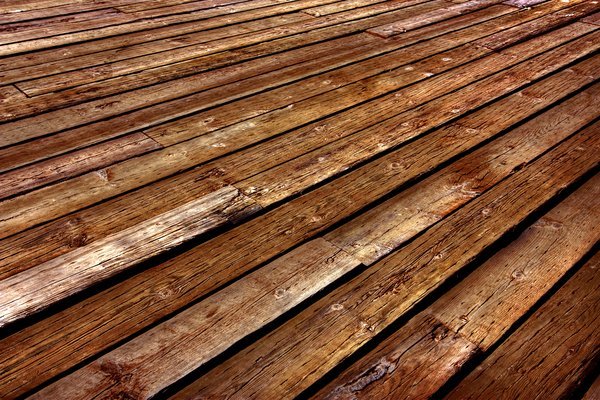 Boardwalk Texture - HDR: Close-up texture of wooden boardwalk planks.
