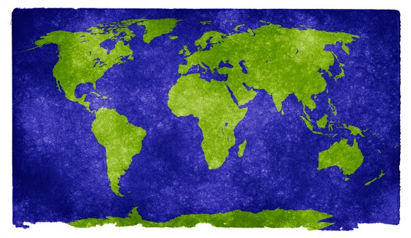 World Grunge Map: Grunge textured world map on vintage paper.