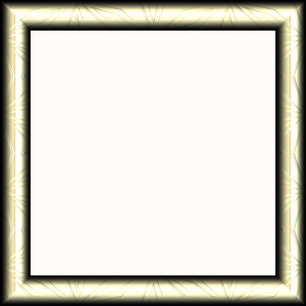 Metallic Frame 3: An ornamental metallic frame in a silvery golden colour. Shape can easily be changed from square to rectangular. Hi-res image.