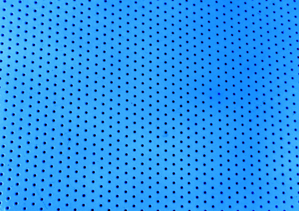 perforated blue: enamelled blue perforated metal shelving