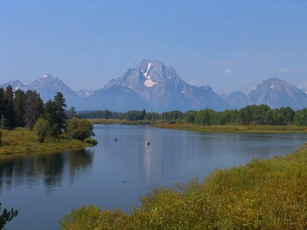 Grand Tetons and Snake River: Grand Tetons and Snake River with reflections.