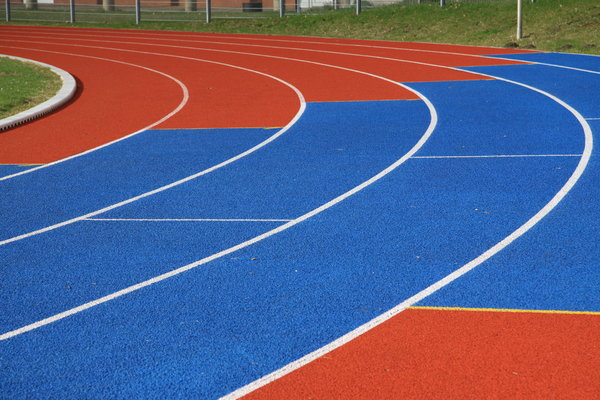 Running Lane 1: Colored running lane