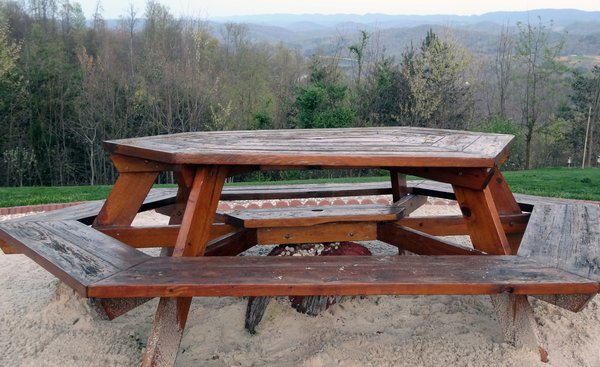 Picnic Table: Picnic Table on a mountain