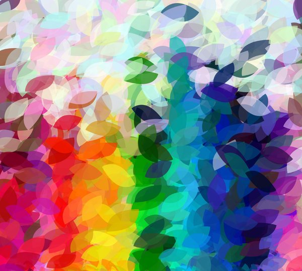 Falling Leaf Design: A rainbow of colours in this falling leaf design. Please use within image licence or contact me. You may prefer:  http://www.rgbstock.com/photo/o278M2i/Falling+Leaf+Design+2