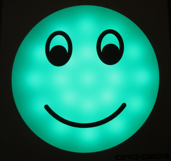 green smiley: green smiley