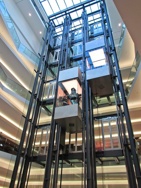 lifts in shopping mall: lifts in shopping mall