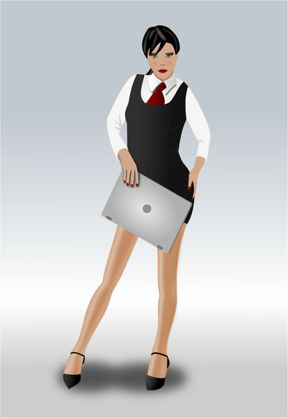 businesswoman: businesswoman with a notebook