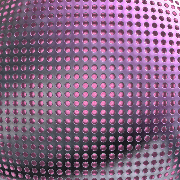 Metallic Grille 1: A silver metal grille closeup over a pink background. Speaker cover, texture, fill, or background.