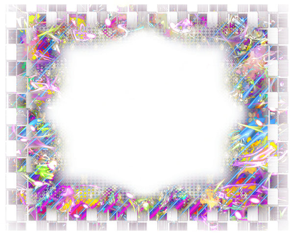 Fantasy Border or Frame 1: A fabulous layered border in a riot of colours. Suitable for a flyer, frame, border, greeting, paper, and much more. A great background texture.