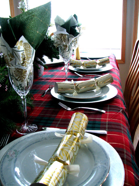 Christmas Setting: A nice picture of my sisters Christmas table setting. She was so proud of it.
