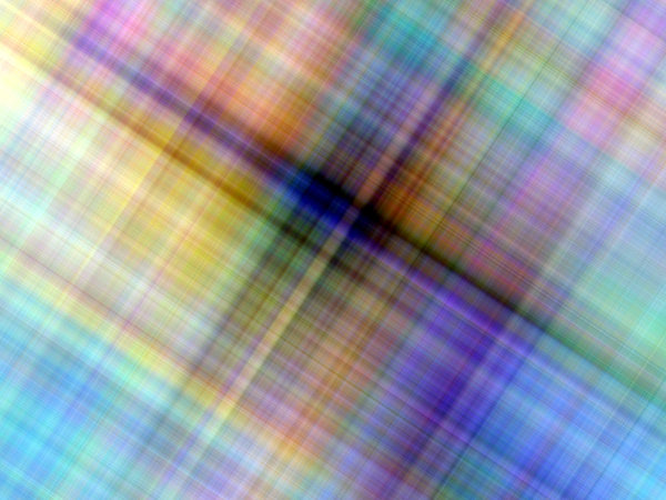 Blurred Background Lines 5: A geometric or plaid background, fill, texture or element in blue, green, yellow, red and purple.