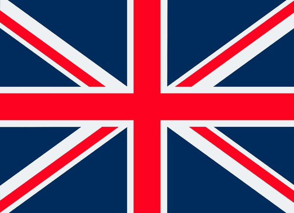 Union Flag: The union flag of Great Britain.