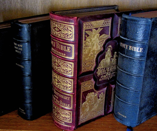 old Bibles2: several old Bibles