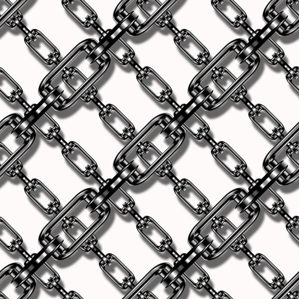 Silver Chain Tile: Silver chain background, texture or fill. Can represent security, strength, protection.