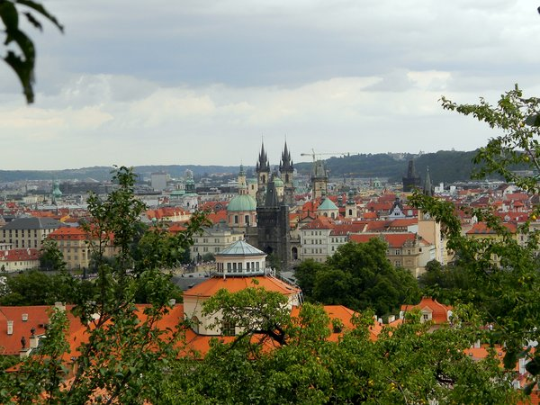 Prague: Looking over Old Town Prague from Petrin Hill.