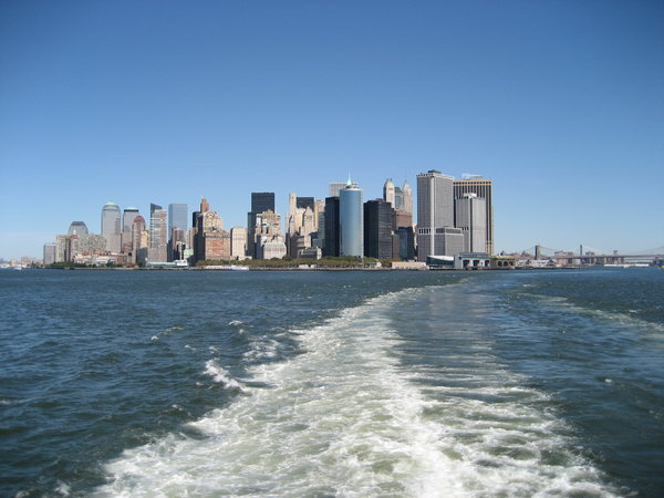 New York skyline: New York skyline from boat