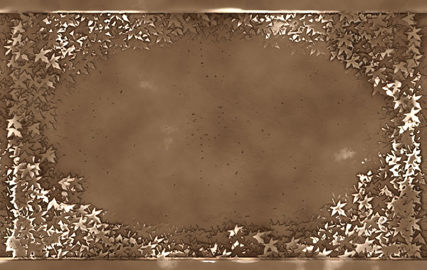 Bronze Plaque 2: A grungy bronze plaque with a 3D leafy border. Great banner, background, texture or element.