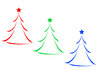 RGB Christmas Tree Icons