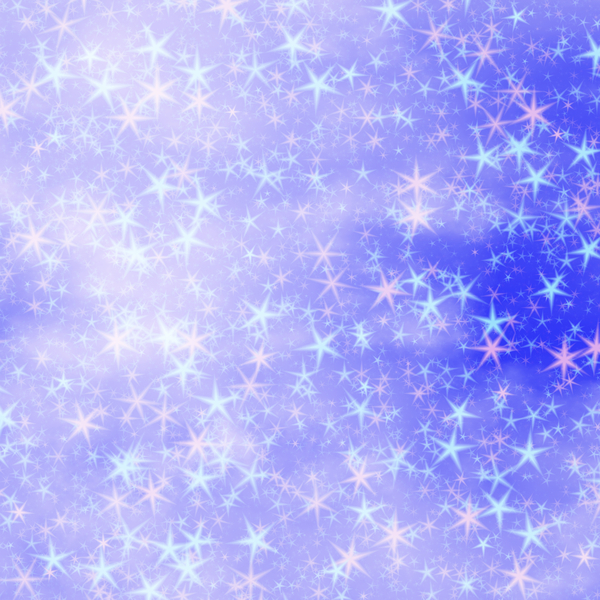 Pink and Blue Stars: Bright, festive mass of stars in a blue sky Suitable for a background, Christmas greetings, holiday greetings, texture, or fill.