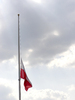 Polish Flag at Half Staff