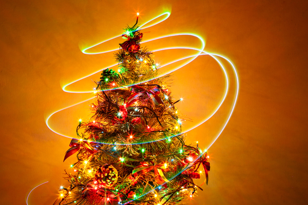 Christmas Tree 7: Photo of christmas tree with light painting