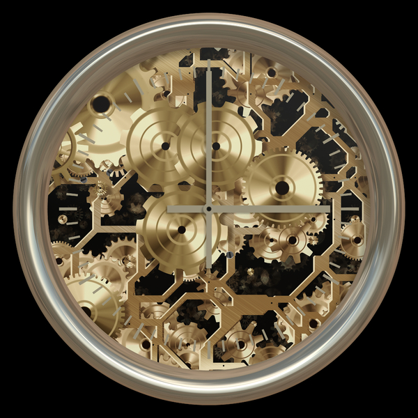 Fantasy Clock 2: An abstract fantasy clock with the inner workings visible. Very high resolution. You may prefer this: http://www.rgbstock.com/photo/noCGNTk/Clockwork