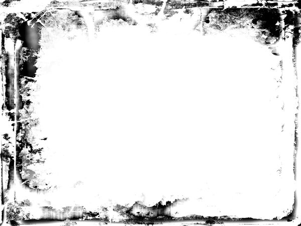 Grungy Border 1: A messy, grungy black border or frame. Plenty of copyspace.