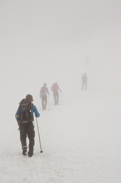 Expedition in fog: Summer (!) hike to Swedens' highest mountain Kebnekaise