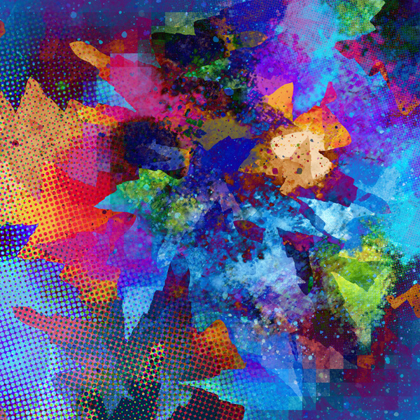 Abstract Leaves 8: Variations on coloured leaf textures.