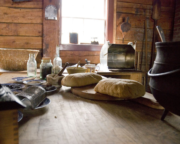 kitchen: Bread, old style in the farmhouse