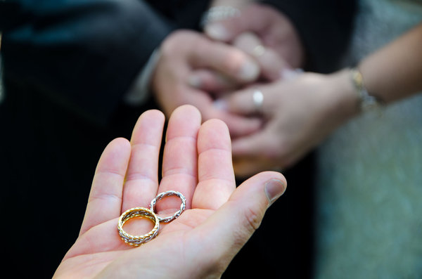 Couple Wedding Rings On Hands