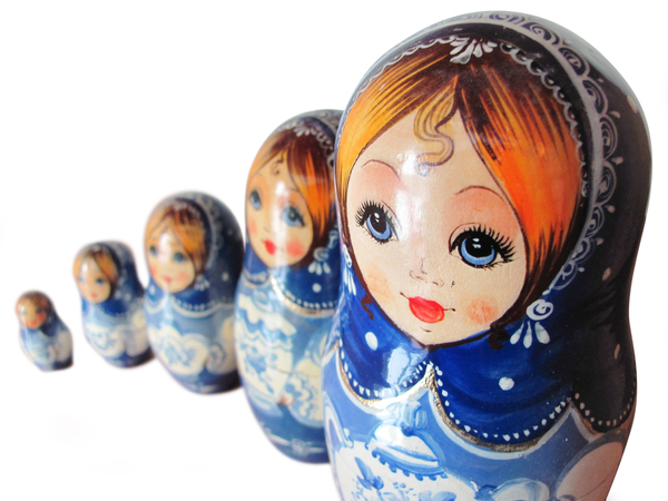 Matryoshka dolls: clipping path included