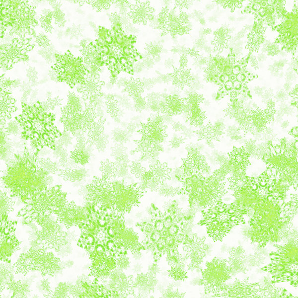 Snowflake Background 6: A grungy chaotic snowflake background, texture or fill. Green on white.