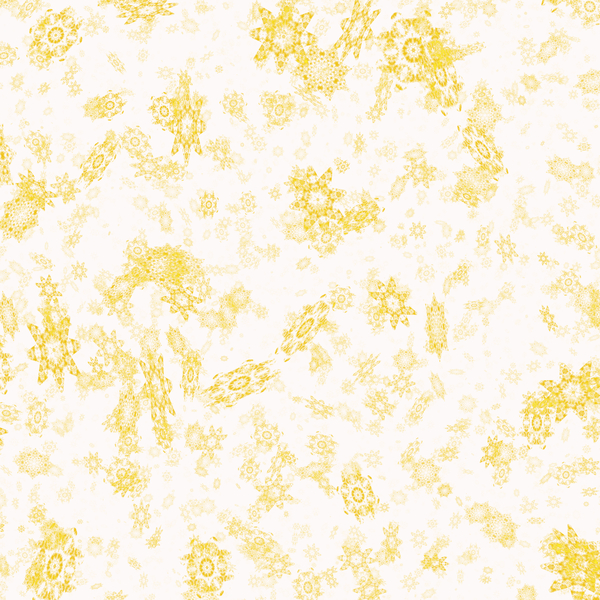 Snowflake Background 4: A grungy chaotic snowflake background, texture or fill. Very high resolution. Yellow on white.