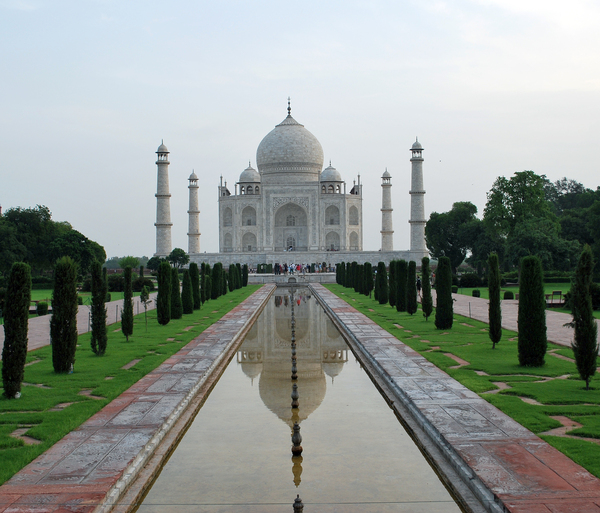 Taj Mahal by Shah Jahan: Taj Mahal was built by Shah Jahan in memory of  his wife. Its a beautifully built white marble structure - a world famous monument.