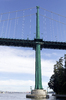 Suspension bridge support