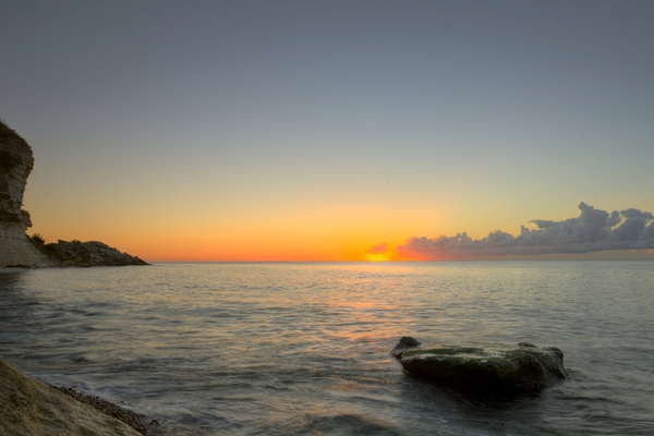 Morning at the beach - HDR: Before sunrise at