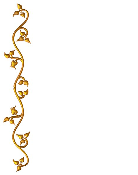 Golden Vine Border 1: An ornate golden frame or border on a white background. Perhaps you would prefer this: http://www.rgbstock.com/photo/nvi0UW8/Golden+Ornate+Border+2