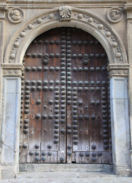 Ancient wooden door: Wooden door