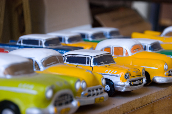 Classic car souvenir Cuba: Close up in a souvenir shop in Havana