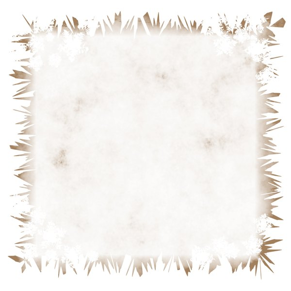 Stained Grunge Background 7: A stained white grunge background with a grungy border. Useful for paper, parchment, banners, background, texture, fill or element. Beige or sepia and white colours.