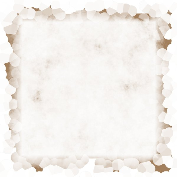 Stained Grunge Background 5: A stained white grunge background with a grungy border. Useful for paper, parchment, banners, background, texture, fill or element. Beige or sepia and white colours.