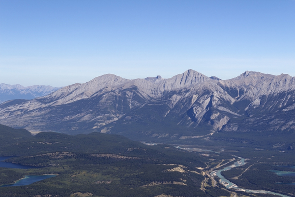 Mountain Panorama: The Rocky Mountains near Jasper, Canada.