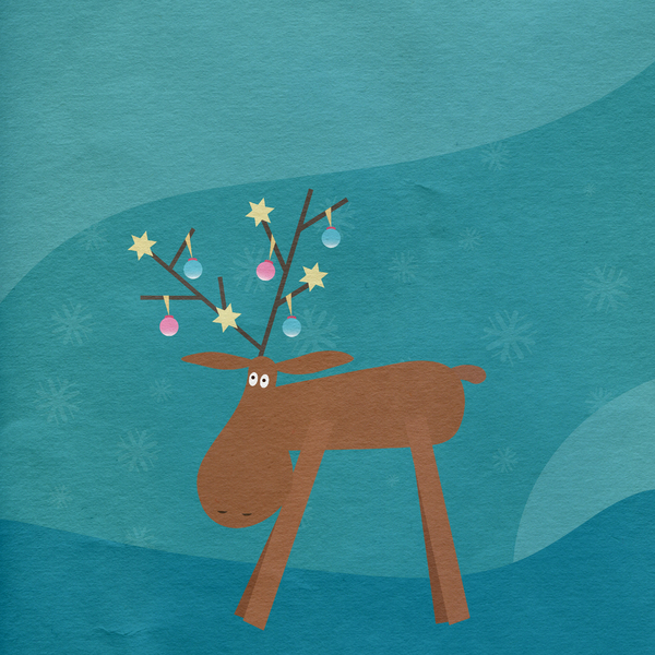 Christmas reindeer paper: no description