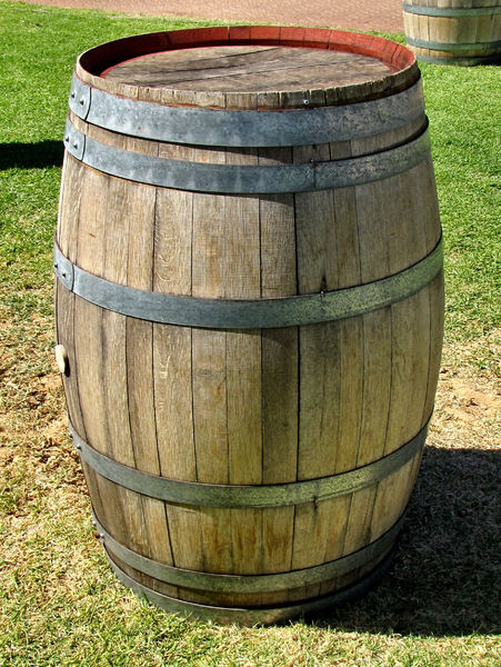 barrel bung2: bung or stopper on wooden barrel