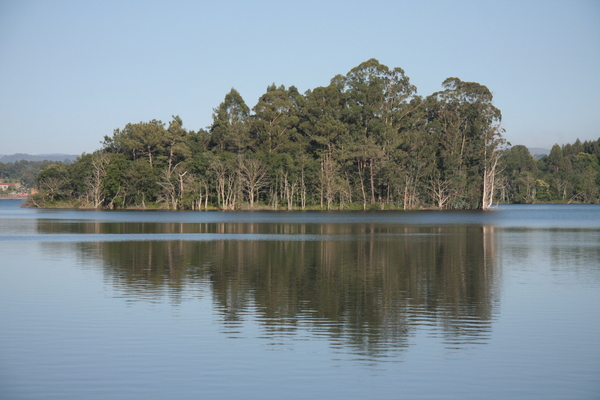 Lake reflection 2: Lake refection in Cecebre, Coruna, Galicia, Spain