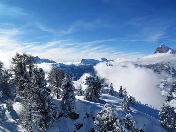 mountains in winter: Dolomiten, Italy