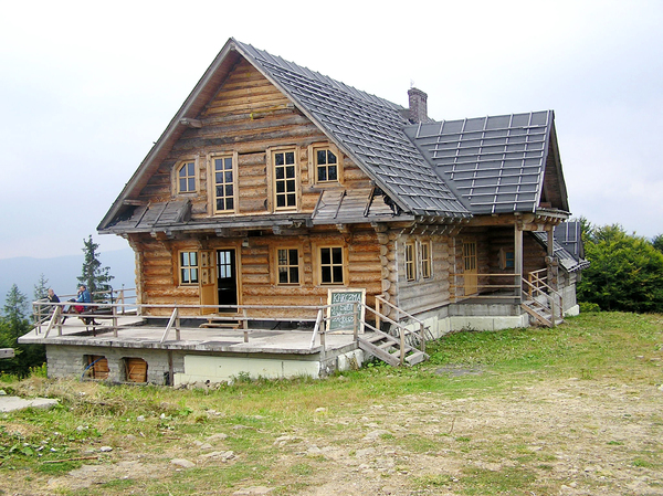 Mountain bar: A bar on the top of the mountain Mosorny Groń