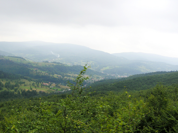 Mountains: Mountains near Zawoja, Poland.